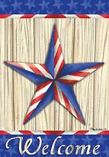 "STARS N STRIPES AMERICAN DOUBLE SIDED  MINI GARDEN FLAG ""PATRIOTIC STAR"""