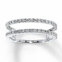 1/2ct Solitaire Diamond Enhancer Wrap Engagement Ring 14K White Gold Fn