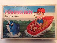 VINTAGE A BATTERIA pesca BOY 1960's Boxed Hong Kong