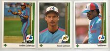 1989 UPPER DECK BASEBALL MONTREAL EXPOS 30 CARD TEAM SET RANDY JOHNSON ROOKIE