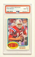 2013 Topps Archives TOM BRADY #12 Red Throwback Jersey PSA 10 Gem Mint! 💎
