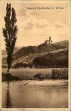 Jugendburg Ludwigstein bei Werleshausen Postkarte 1929 Blick auf die Burg Hügel