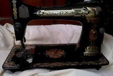 VINTAGE MACHINE A COUDRE SINGER ANNEE 1910 ART DECORATIF MOTIF AU SPHYNX