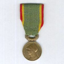 FRANCE. Medal of the Society for the Encouragement of Devotion to Service bronze