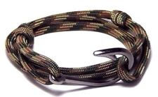 Nautical Fish Hook Bracelet Camo Men Women Fashion Vintage Jewelry Adjustable