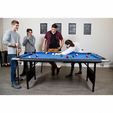 Hathaway Fairmont Portable 6-Ft Pool Table Indoor Easy Storage Folding Legs Blue
