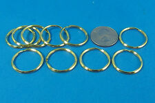 "New Key Rings Lot of 11 24mm 1"" Split Key Ring Gold Metal Finish"
