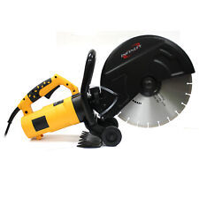 "14"" Portable Concrete Saw 3200W Corded Electric 4100 RPM w/ Water Pump"