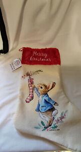 Beatrix Potter Peter Rabbit Christmas Stocking, Boot & Ribbon Hanging Loop, 46cm