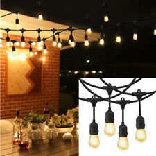 Rayonled® 48Ft Outdoor String Light S14/E26 15 LED Bulbs Home Wedding Party Lamp