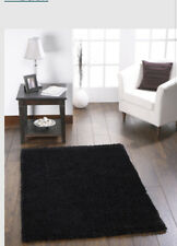 ORIGINS CHICAGO sparkle SHAGGY RUG rug BLACK 6 SIZES 9 COLOURS RUNNER & CIRCLE