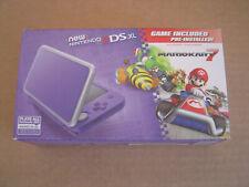 Nintendo 2DS XL Console + Mario Kart 7 Game Bundle - Purpe/Silver - Brand New
