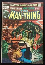 VINTAGE MAN-THING #4 MARVEL COMIC BOOK APRIL, 1974-VTG-OLD-CLASSIC-COLLECTIBLE