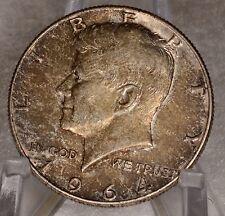 1964 Kenndey Half Dollar - toned -  JFK Silver Inv.# G4.1