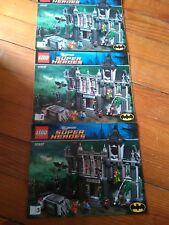 LEGO 10937 - DC UNIVERSE SUPER HEROES - ARKHAM ASYLUM - 3 LIVRETS NOTICES