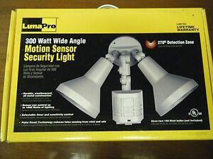 LumaPro Sensor, Motion, 300 Watt  Wide angle Security Light 4VW94  Out Door Spot