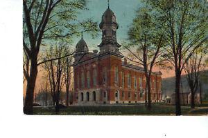 Franklin PA Venango County Court House 1912 Postcard Architecture