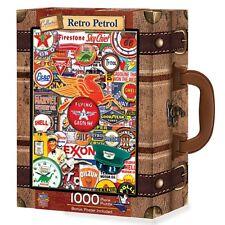 Retro Petrol Classic Gas Signs 1000 piece jigsaw in a suitcase 68cm x 49cm (mpc)