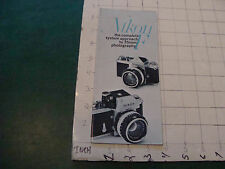 Original Camera booklet/brochure: NIKON F 35mm  camera 1970 -- 28pgs