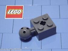 LEGO 57909 2x2 Dark Grigio bluastre Technic Brick modificato, palla, Asse Foro x 2 NUOVO