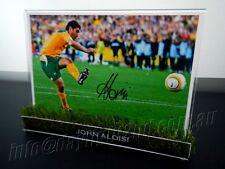 ✺Signed✺ JOHN ALOISI Photo & Frame PROOF COA Socceroos World Cup 2018 Jersey
