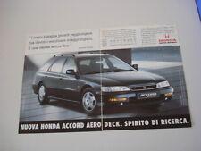 advertising Pubblicità 1996 HONDA ACCORD AERODECK