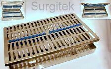 6 Pezzo Sterilizzazione Cassetta Scaffaltura Per 20 Dentistico Strumenti