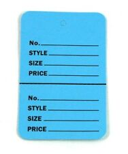 """100 BLUE Large (2.75""""x1.75"""")Perforated Unstrung Price Consignment Store Tags"""