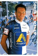 CYCLISME carte cycliste SOREN PETERSEN équipe ACCEPTCARD