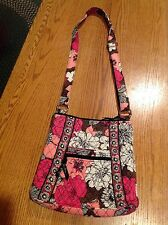 Vera Bradley Hipster Crossbody Bag in Retired MOCHA ROUGE Pink Brown -pre owned