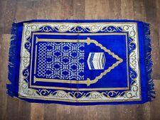 Prayer Rug Made in Turkey New Blue Gold White