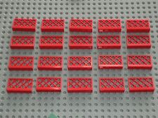 20 x LEGO Barrière Red Fence Ref 3185 / Set 9360 1084 6092 726 6392 080 622 725