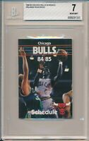 1984-85 Michael Jordan Rookie Year Chicago Bulls Pocket Schedule BGS 7 NM #1395