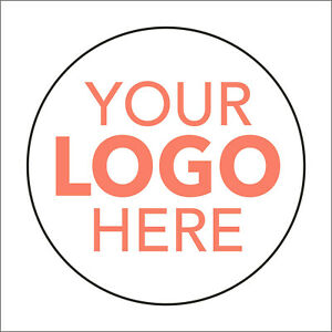 LOGO Printed Round Stickers, Personalised Stickers - Company Name Labels Flower