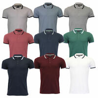 Mens Polo T Shirt Brave Soul Hero Tipped Short Sleeved Collared Casual Summer