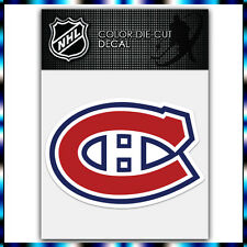 "Montreal Canadiens NHL Die Cut Vinyl Sticker Car Bumper Window 2.9""x4"""