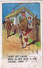 LEAVE AFF LASSIE - Donald McGill First World War Postcard 1919