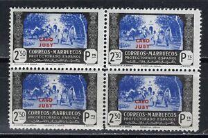 ESPAÑA CABO-JUBY 1944 EDIFIL 150** BLOQUE DE 4