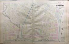 Orig 1881 G.M. Hopkins, Haverhill, Ma Washington Square, Lincoln Hall Atlas Map