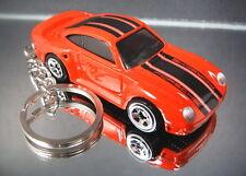 Red Porsche 959 Key Chain Ring Diecast Fob