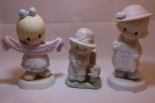 Precious Moments Figurine Lot of 3: #528080, #795259, & Salt/Pepper Shakers