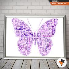 Personalised Daughter Christmas Gifts Niece Mum Nanny Her Birthday Butterfly