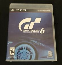 Gran Turismo 6 (Sony PlayStation 3, 2013) PS3 Case and Game