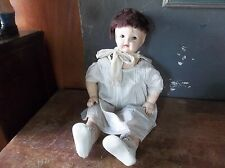 """Antique Vintage Effanbee 24"""" Composition Baby Doll With Dress"""
