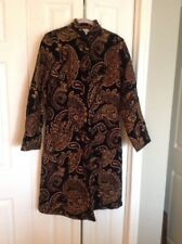 Flashback Black , Copper. Paisley Tapestry Coat , Small