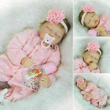 """22"""" bambino realistico fatto a mano Bambola Silicone Reborn Baby in vinile"""