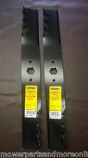 2 Sets 42 Inch Cut Predator MTD Cub Cadet Ride on Lawn Mower Blade,942-0616