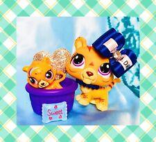 ❤️Littlest Pet Shop LPS #3593 Mommy & Baby JAGUAR Tiger Kitty Cat Bobble❤️