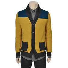 Jack&Jill Mens Casual Shawl-Collar Detailed MultiColor Cardigan Sweater Size S