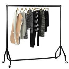 4ft Portable Garment Rail Clothes Home Shop Storage Display Heavy Duty All Metal